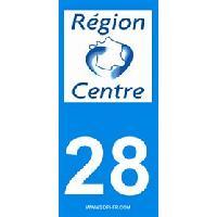 Adhesifs Plaques Immatriculation 2 autocollants Region Departement 28