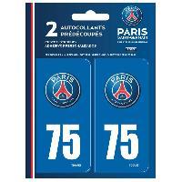 Adhesifs Plaques Immatriculation Autocollant pour plaque immatriculation Dep 75 PSG Paris Saint Germain