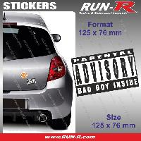 Adhesifs Sexy 1 sticker Bad Boy Inside 12.5 cm - Parental Advisory