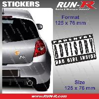 Adhesifs Sexy 1 sticker Bad Girl Inside 12.5 cm - Parental Advisory