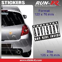 Adhesifs Sexy 1 sticker Bad Girl Inside 12.5 cm - Parental Advisory Run-R Stickers