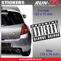 Adhesifs Sexy 1 sticker Blonde Driver 12.5 cm - Parental Advisory