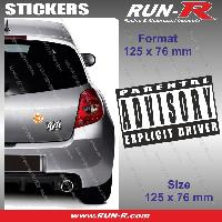 Adhesifs Sexy 1 sticker Explicit Driver 12.5 cm - Parental Advisory