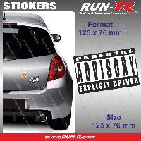 Adhesifs Sexy 1 sticker Explicit Driver 12.5 cm - Parental Advisory Run-R Stickers
