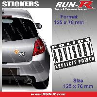 Adhesifs Sexy 1 sticker Explicit Power 12.5 cm - Police Advisory