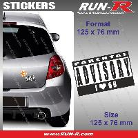 Adhesifs Sexy 1 sticker I LOVE 69 12.5 cm - Parental Advisory