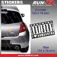Adhesifs Sexy 1 sticker I LOVE KAMASUTRA 12.5 cm - Parental Advisory