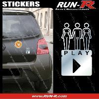 Adhesifs Sexy 1 sticker SEXY PLAY 9 cm - CHROME Run-R Stickers