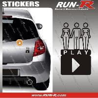 Adhesifs Sexy 1 sticker SEXY PLAY 9 cm - NOIR Run-R Stickers