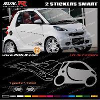 Adhesifs Smart 2 stickers compatible avec SMART 27 cm - ARGENT