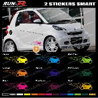 Adhesifs Smart 2 stickers compatible avec SMART 27 cm - DIVERS COLORIS