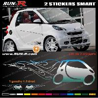 Adhesifs Smart 2 stickers pour SMART 27 cm - CHROME Run-R Stickers