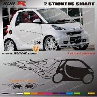 Adhesifs Smart 2 stickers pour SMART 27 cm - NOIR Run-R Stickers