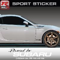 Adhesifs Subaru PW19 NB - Sticker Powered by SUBARU - NOIR BLANC - pour Impreza WRX STI BRZ XV Legacy Forester Outback Run-R Stickers