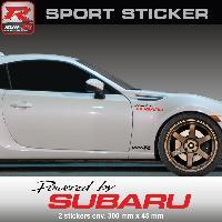 Adhesifs Subaru PW19 NR - Sticker Powered by SUBARU - NOIR ROUGE - pour Impreza WRX STI BRZ XV Legacy Forester Outback Run-R Stickers
