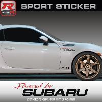 Adhesifs Subaru PW19 RN - Sticker Powered by SUBARU - ROUGE NOIR - pour Impreza WRX STI BRZ XV Legacy Forester Outback Run-R Stickers