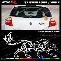 Adhesifs Tribal - Tattoo 1 sticker LOUP TRIBAL 20 cm - DIVERS COLORIS Run-R Stickers