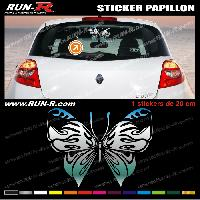 Adhesifs Tribal - Tattoo 1 sticker PAPILLON TRIBAL 20 cm - CHROME Run-R Stickers