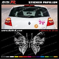 Adhesifs Tribal - Tattoo 1 sticker PAPILLON TRIBAL 20 cm - DIVERS COLORIS