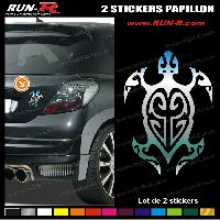Adhesifs Tribal - Tattoo 1 sticker TORTUE TRIBAL 13 cm - CHROME Run-R Stickers