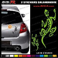 Adhesifs Tribal - Tattoo 2 stickers SALAMANDRE TRIBAL 18 cm - DIVERS COLORIS