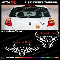 Adhesifs Tribal - Tattoo 2 stickers TAUREAU TRIBAL 20 cm - DIVERS COLORIS Run-R Stickers