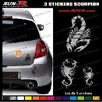 Adhesifs Tribal - Tattoo 3 stickers SCORPION TRIBAL 10 cm - DIVERS COLORIS Run-R Stickers