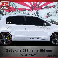Adhesifs Volkswagen 000A Sticker Flag pour VOLKSWAGEN UP Argent Run-R Stickers