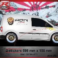 Adhesifs Volkswagen 000J Sticker FLAG pour VOLKSWAGEN CADDY Jaune Run-R Stickers