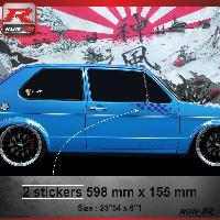 Adhesifs Volkswagen 000M Sticker FLAG compatible avec VOLKSWAGEN GOLF 1 Marine