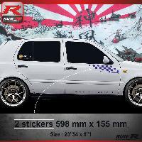 Adhesifs Volkswagen 000M Sticker FLAG compatible avec VOLKSWAGEN GOLF 3 Marine
