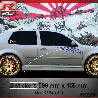 Adhesifs Volkswagen 000M Sticker FLAG compatible avec VOLKSWAGEN GOLF 4 Marine