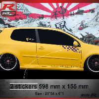 Adhesifs Volkswagen 000M Sticker FLAG compatible avec VOLKSWAGEN GOLF 5 Marine