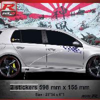Adhesifs Volkswagen 000M Sticker FLAG pour VOLKSWAGEN GOLF 6 Marine Run-R Stickers