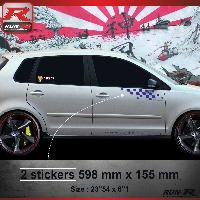 Adhesifs Volkswagen 000M Sticker FLAG pour VOLKSWAGEN POLO 9N Marine Run-R Stickers