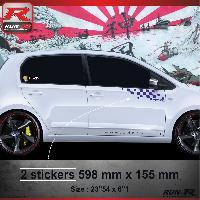 Adhesifs Volkswagen 000M Sticker Flag compatible avec VOLKSWAGEN UP Marine