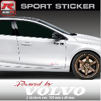 Adhesifs Volvo PW14 RB - Sticker Powered by VOLVO - ROUGE BLANC - pour S40 V40 C30 S60 V60 S90 V90 XC60 XC90 Run-R Stickers