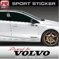 Adhesifs Volvo PW14RN Sticker Powered by VOLVO ROUGE NOIR pour S40 V40 C30 S60 V60 S90 V90 XC60 XC90 Run-R Stickers
