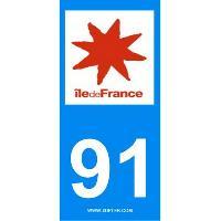 Adhesifs & Stickers 10 autocollants Region Departement 91