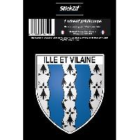 Adhesifs & Stickers 1 Adhesif Blason Ille Et Vilaine STD35B