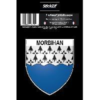 Adhesifs & Stickers 1 Adhesif Blason Morbihan STD56B