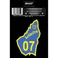 Adhesifs & Stickers 1 Adhesif Departement CARTE ARDECHE