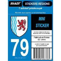 Adhesifs & Stickers 1 Adhesif Moto Region Departement 79 NOUVELLE-AQUITAINE