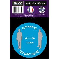 Adhesifs & Stickers 1 Adhesif Pre-Decoupe DISTANCES De Securite