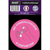 Adhesifs & Stickers 1 Adhesif Pre-Decoupe GEL Hydro Alcoolique A Disposition
