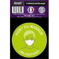 Adhesifs & Stickers 1 Adhesif Pre-Decoupe PORT Du Masque Obligatoire