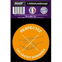 Adhesifs & Stickers 1 Adhesif Pre-Decoupe RESPECTEZ Les Gestes Barrieres