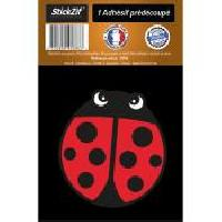 Adhesifs & Stickers 1 Autocollant Coccinelle