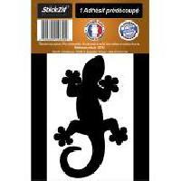 Adhesifs & Stickers 1 Autocollant Gecko Noir