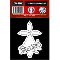 Adhesifs & Stickers 1 Autocollant Hermine Blanche Breizh